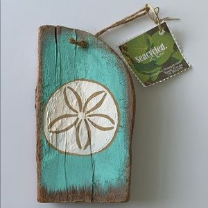 Hand painted Driftwood sand dollar  Wall hanging